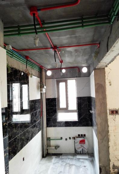 楼顶线路改造、红绿分明-工地突击 上海甄融空间设计施工细节一网打尽